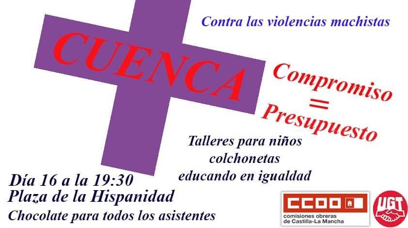 El PSOE de Cuenca apoya la Jornada contra las Violencias Machistas de este mi�rcoles