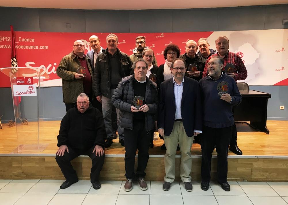 La Agrupaci�n Socialista de Cuenca conmemora el 40 Aniversario de la Constituci�n reconociendo a quienes militaban en el PSOE de Cuenca en 1978