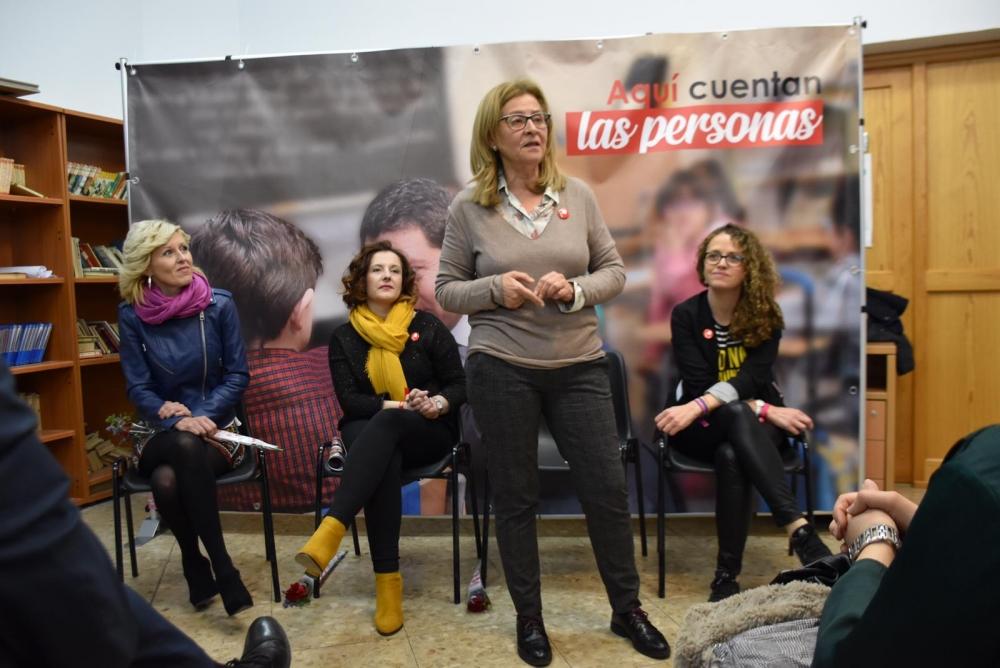 Las candidatas del PSOE piden el voto para que Espa�a