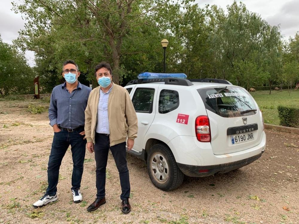 Escudero conoce los efectos de la fuerte tormenta en Santa Mar�a del Campo Rus y traslada el apoyo de las instituciones