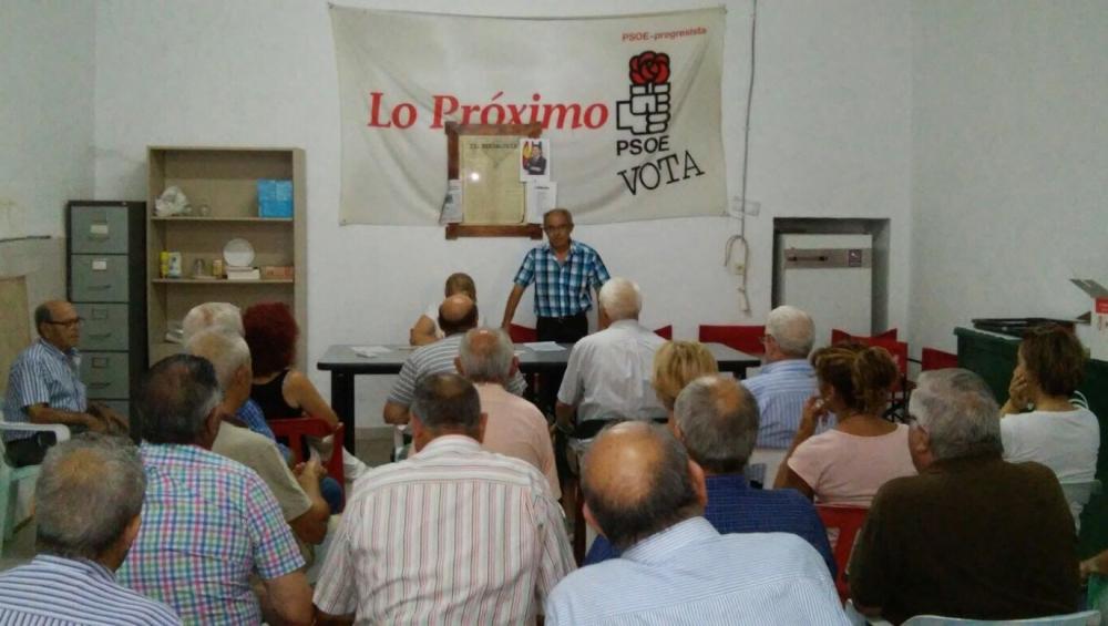 Militantes socialistas de La Manchuela respaldan a García-Page para sacar adelante los Presupuestos