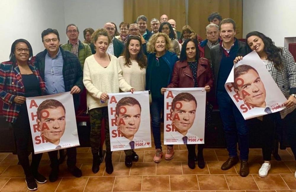 Canales pide el voto para el PSOE