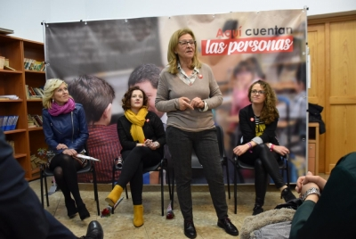Las candidatas del PSOE piden el voto para que España