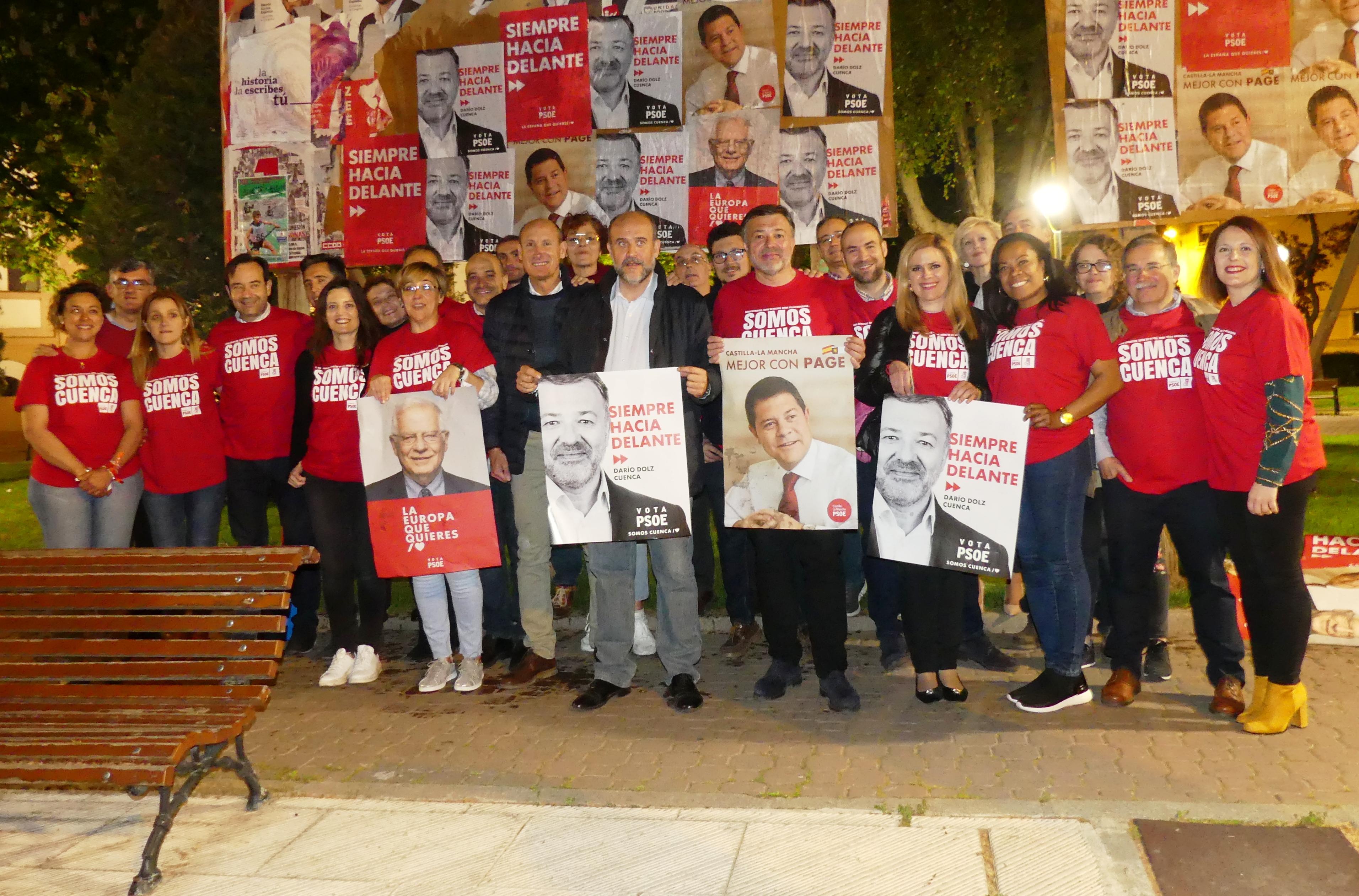 El PSOE apuesta por el t�ndem Emiliano Garc�a-Page y Dar�o Dolz para darle a Cuenca el impulso que necesita